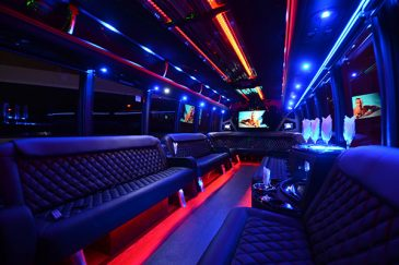 40 passenger party bus rental Las Vegas